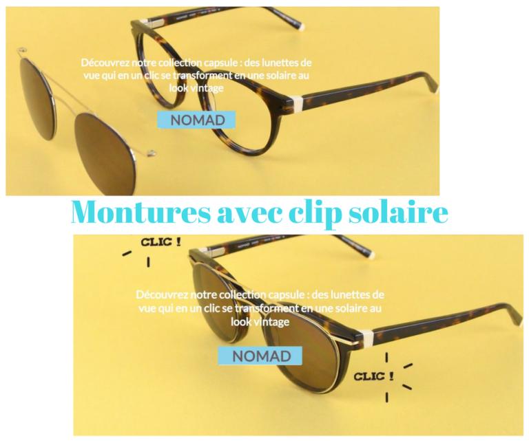 Montures avec Clip solaire
